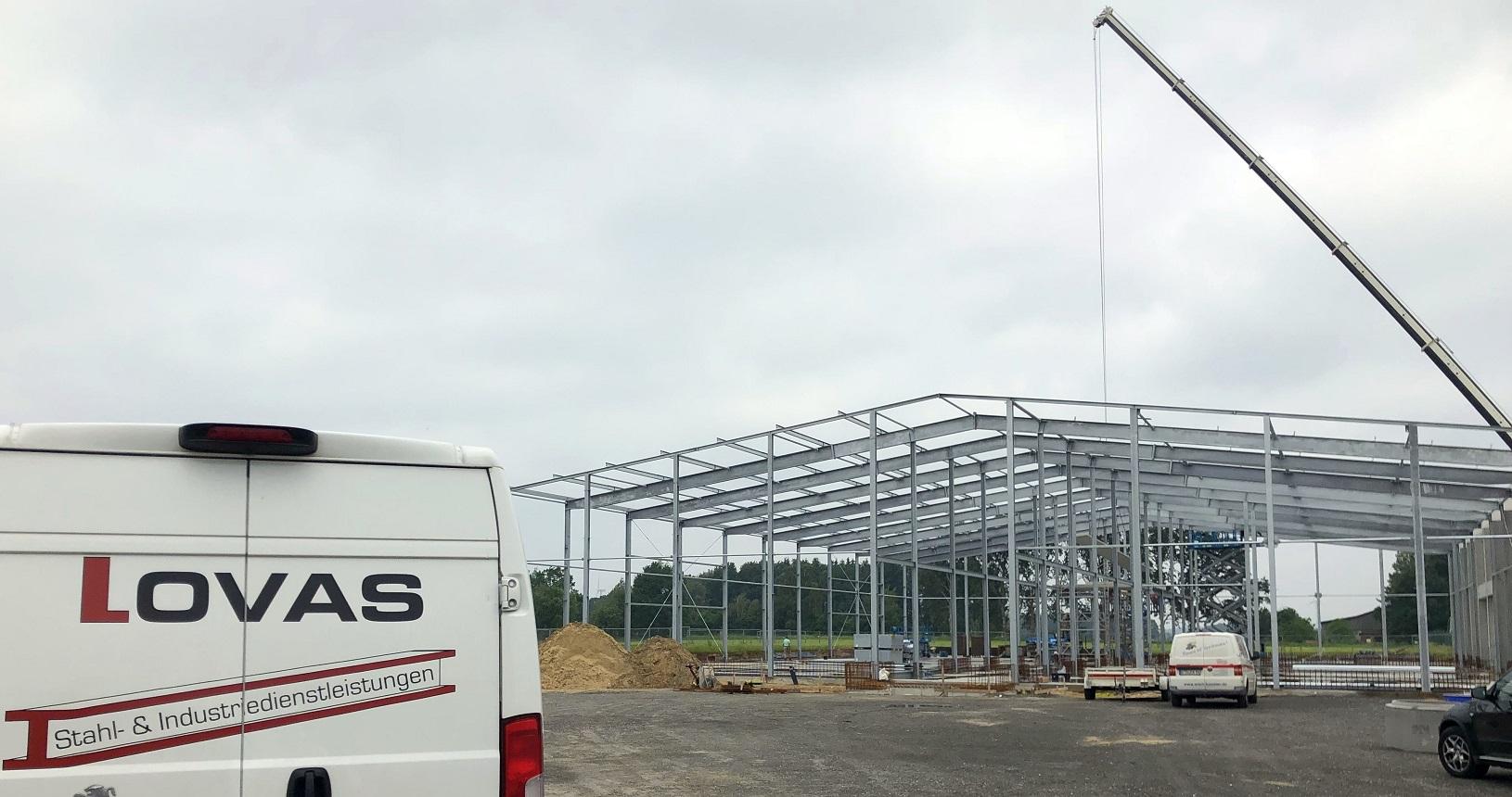 Neubau einer Kühlhalle in Apensen
