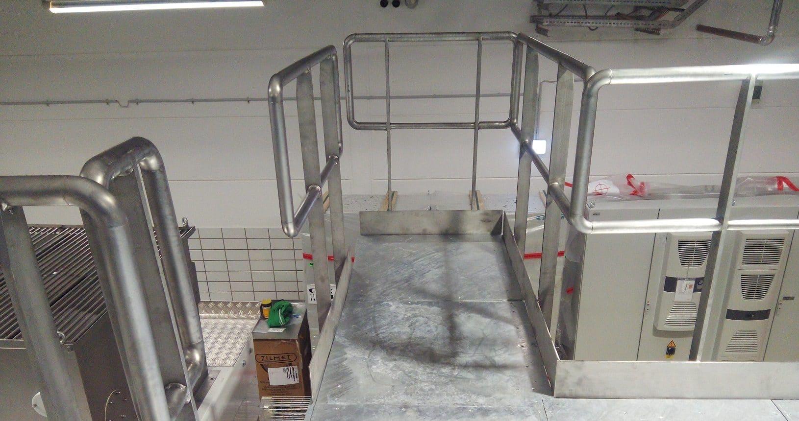 Stahlbühne Lebensmittelproduktion